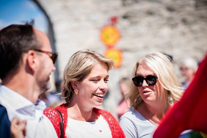 Lena Hallengren och Annika Strandhäll, Almedalen. Foto: LinneaBengtsson.se